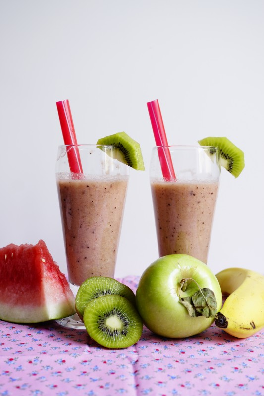 Banana, Kiwi and Watermelon Smoothie