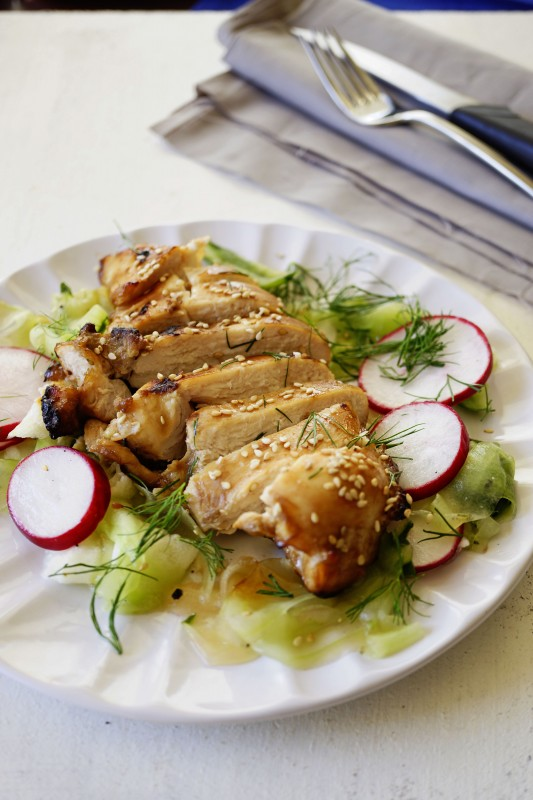 Grilled Chicken with CucumberSalad