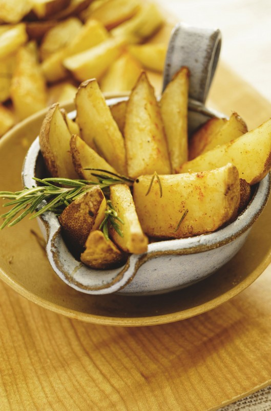 Baked French Fries with Rosemary, Garlic and Olive Oil