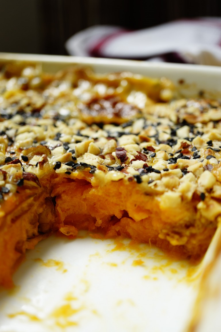 How do you make sweet potato casserole that is easy and quick yet still delicious