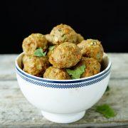High Protein Meatballs Made of Ground Turkey