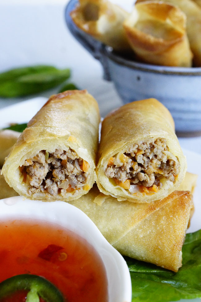 Easy Filipino Lumpia Recipe | The Skinny Pot