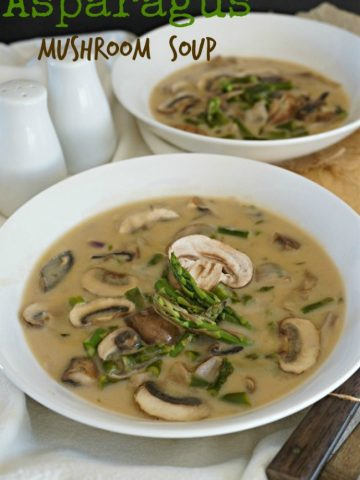 Easy Dinner Recipe that you can make after work - Asparagus Mushroom Soup