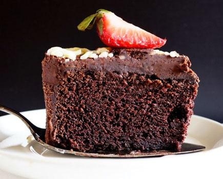 One layer Chocolate Cake