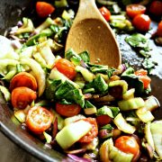 Baby Bok Choy and Tomato Stir Fry – Made in 15 Minutes