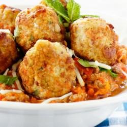 Ground Chicken Meatballs with Mozarella Cheese