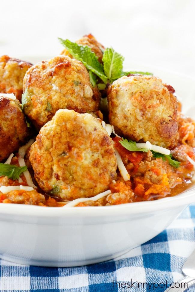 Ground Chicken Breast Meatballs with Mozzarella Cheese