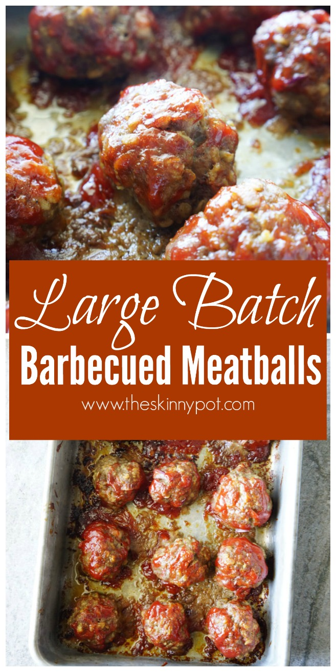 Large Batch Barbecued Meatballs