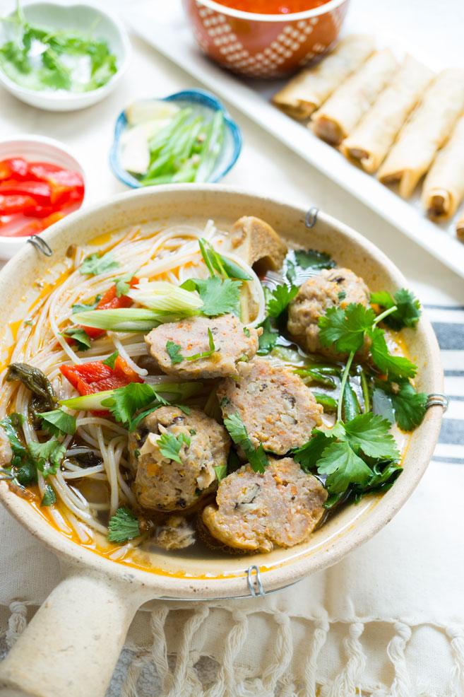 Vietnamese Beef Meatballs Soup