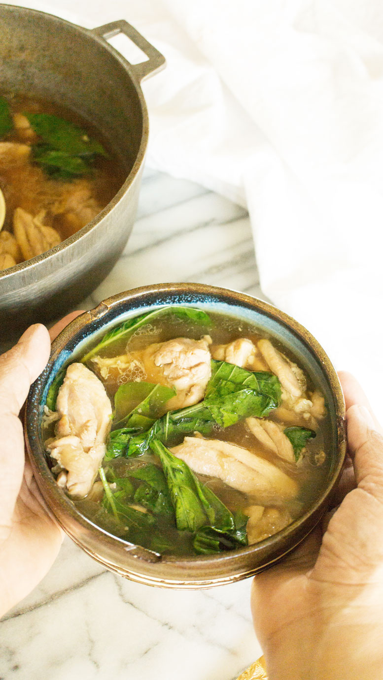TINOLANG MANOK SA DAHON NG SILI PLUS VIDEO OR CHICKEN SOUP WITH PEPPER LEAVES