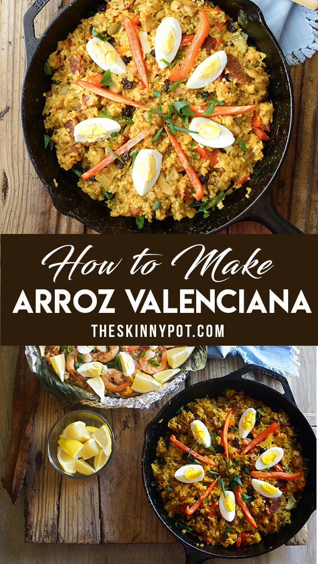 Arroz Valenciana is a Filipino Paella version. It may look similar with Paella, but its ingredients are way different. This is often serve on Christmas and special occasion.