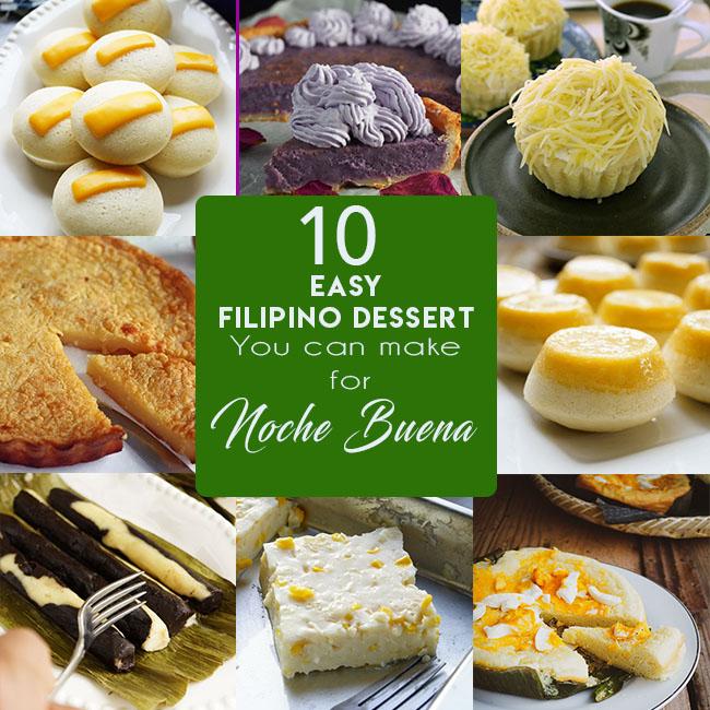 10 EASY FILIPINO DESSERT YOU CAN MAKE FOR NOCHE BUENA