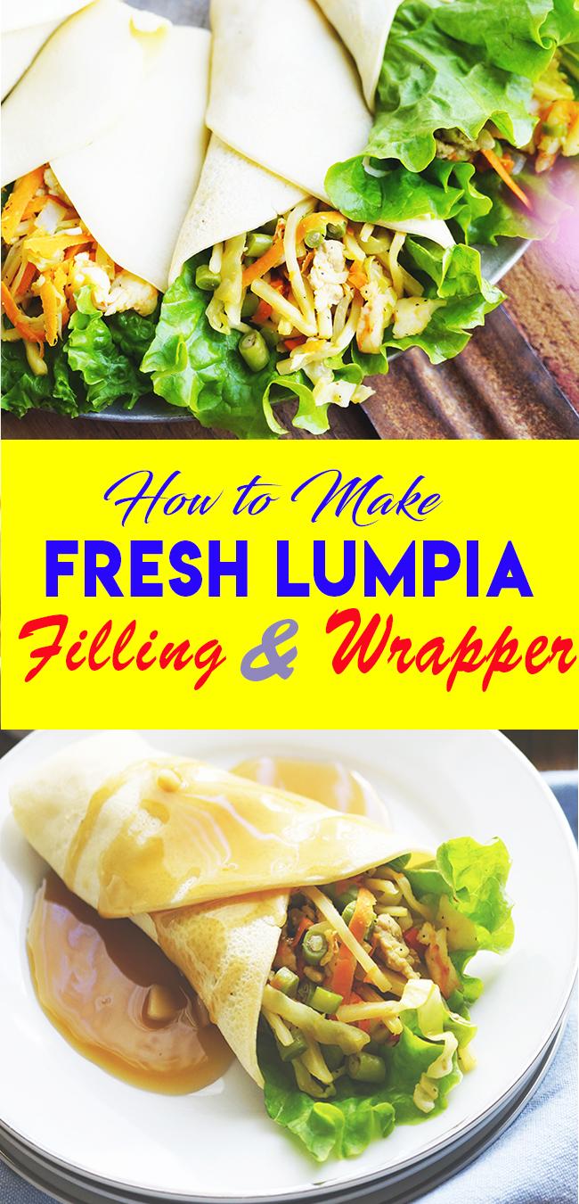 FRESH LUMPIA UBOD HOW TO MAKE FRESH LUMPIA WRAPPER AND SAUCE