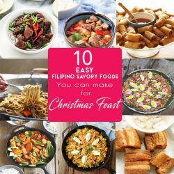 10 EASY SAVORY FILIPINO FOODS YOU CAN MAKE FOR CHRISTMAS FEAST. Hello, hello, hello. I am dropping by today to share with you this 10 easy Filipino foods you can make for your Christmas feast or HANDAAN -feast. I made sure that these are the easy recipes I posted in the blog. The Lumpia made the list and that Arroz Caldo is making its appearance too, as it is really famous for us, Pinoy. So scroll down,click on the link posted below the image and choose some possible menu candidates you can make .