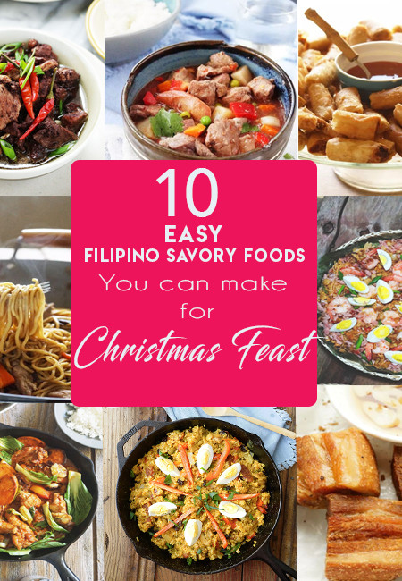 10 EASY SAVORY FILIPINO FOODS YOU CAN MAKE FOR CHRISTMAS FEAST.Hello, hello, hello. I am dropping by today to share with you this 10 easy Filipino foods you can make for your Christmas feast or HANDAAN -feast. I made sure that these are the easy recipes I posted in the blog. The Lumpia made the list and that Arroz Caldo is making its appearance too, as it is really famous for us, Pinoy. So scroll down,click on the link posted below the image and choose some possible menu candidates you can make .