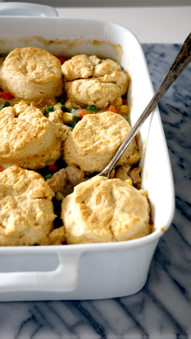Chicken Dumpling with Homemade Biscuit . This recipe is close to my heart,since it is the first American meal that I have learned to prepare, and the biscuit recipe was from my first American landlord./ www.theskinny.com