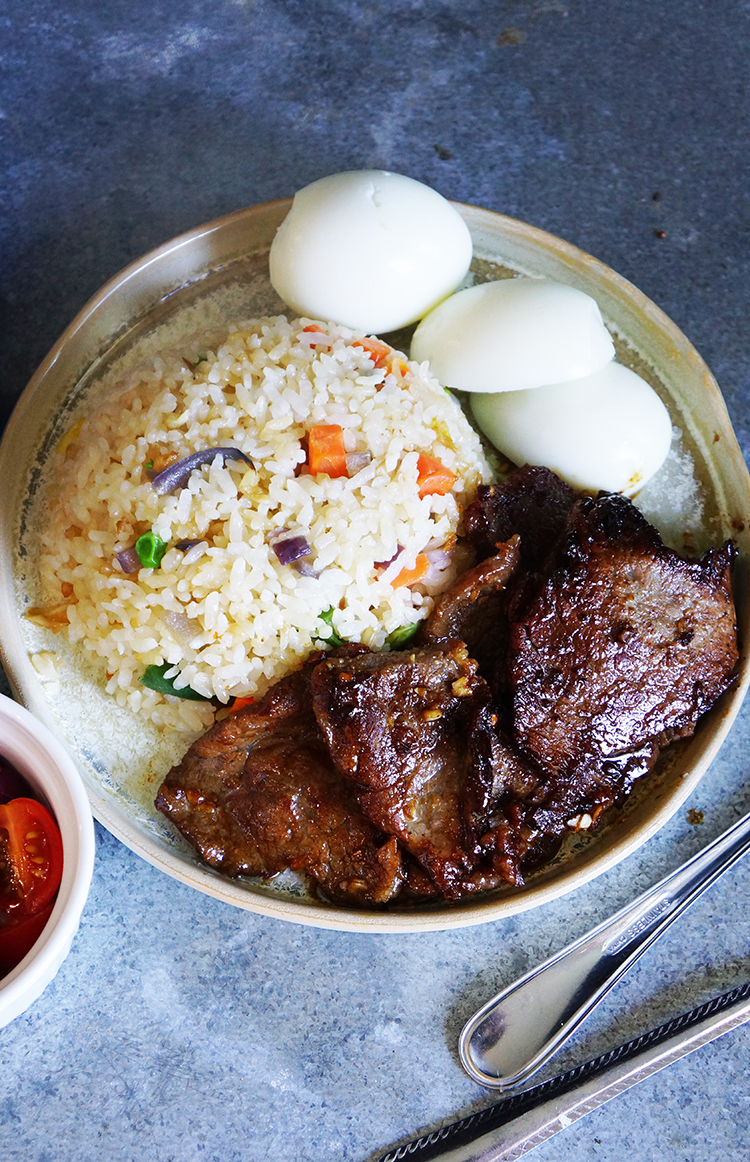 Easy, 6 Ingredient, freezeable and Quick Filipino Beef Tapa , You can prepare it in a whim, serve with rice and fried rice Pinoys call TAPSILO
