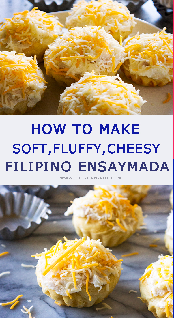 This is a soft ,cheesy and pillowy Ensaymada that you can make at home. It has step by step clear instruction and video to guide you. Gone are the days when you have to buy one.