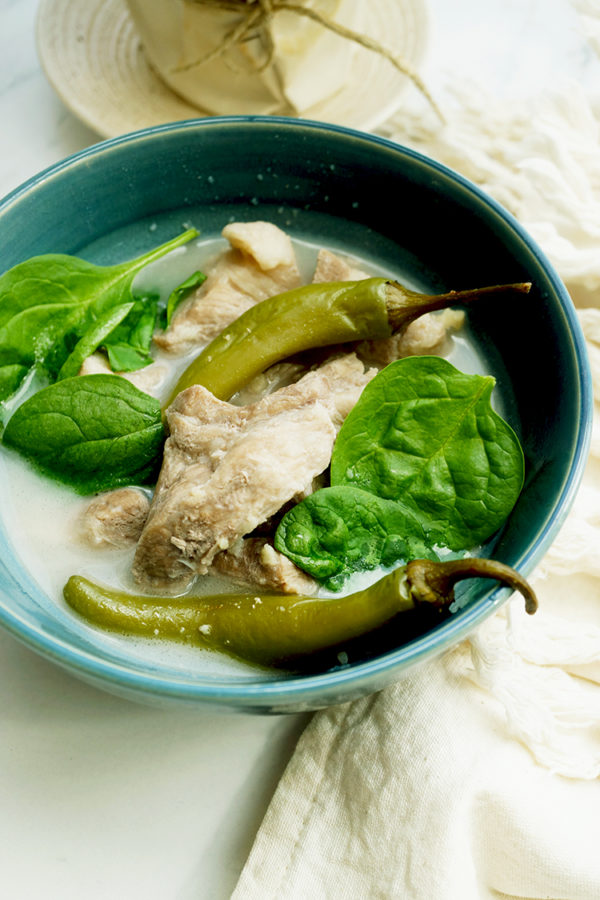 Pork Sinigang sa Bayabas. Sour broth made from scratch. Instead of the usual Sampaloc Mix, we used guava to give the broth its sourness.