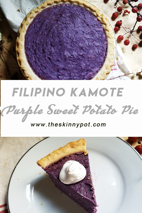 This Purple Sweet Potato Pie (Kamote Pie) is an easy alternative for our ever elusive Ube pie. This Kamote Pie taste just like Ube Pie - I promise.