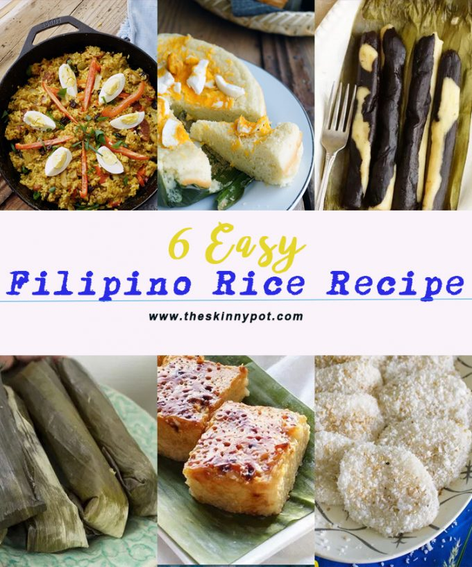 This 6 plus (more) Filipino rice recipe are easy to make, worth a try and taste and will be a great cooking adventure for you...