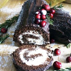 HOW TO MAKE YULE LOG CAKE (BUCHE DE NOEL)