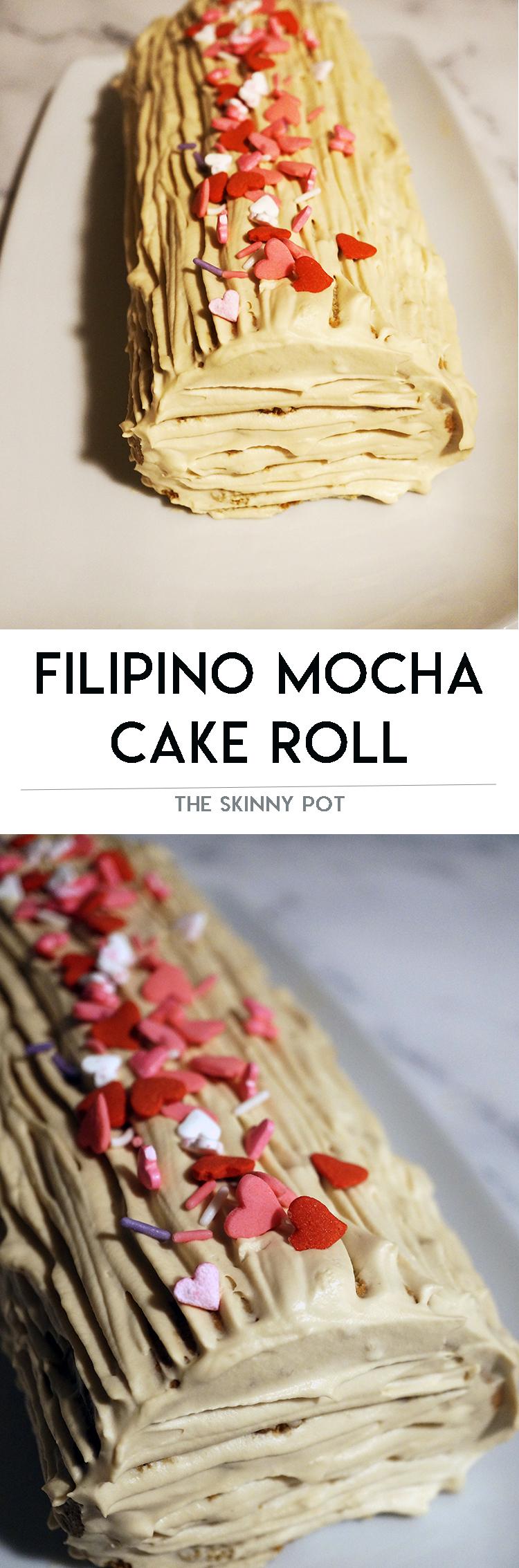 QUICK WAY TO MAKE FILIPINO STYLE MOCHA CAKE ROLL