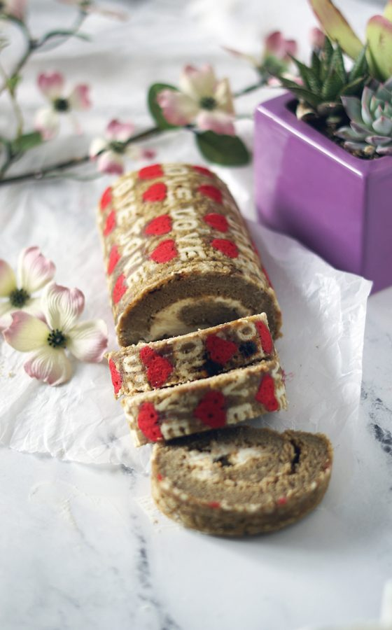 Learn how to make this Love swiss roll.Tested recipe, print the free pattern, tips on how to roll. And amaze your friends and love ones.