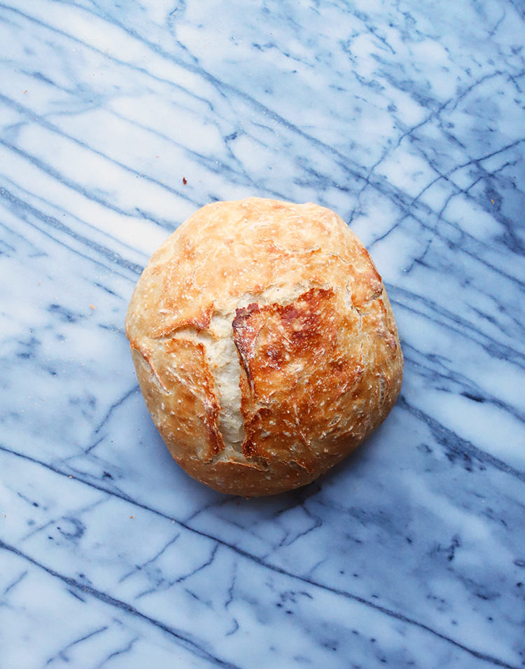 Crusty outside, ridiculously easy to make bread with crusty outside and soft inside NO KNEAD BREAD. Made only of 4 ingredients. This NO KNEAD BREAD SHOULD BE IN YOU MENU ROTATION right now.