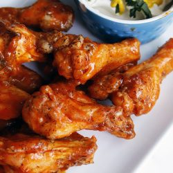This Baked Buffalo wings is an alternative for the traditional deep fried chicken wings. It's easy and it tastes really delicious. You can make a huge batch and freeze them.