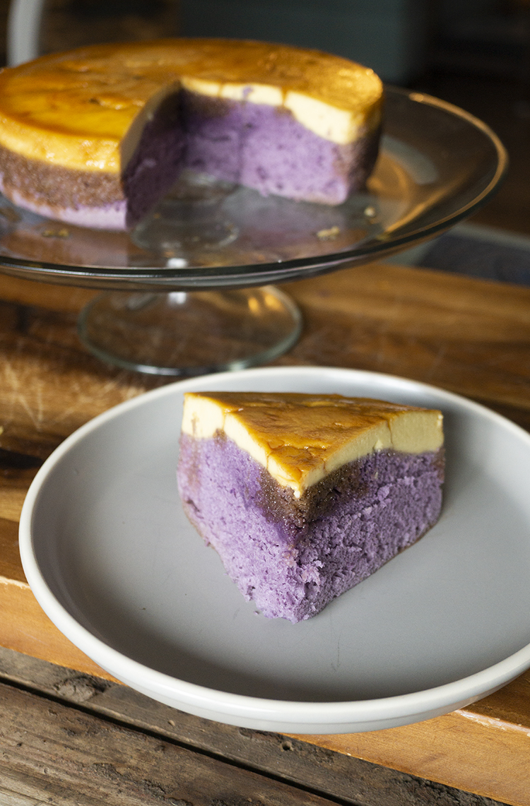 Tested recipe and step by step instruction to make No bake Ube Leche Flan cake. This cake is fluffy, tasty and delicious and you don't need an oven to make it. Steaming is just good enough.