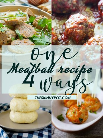 ONE MEATBALL RECIPE 4 WAYS.  Make your own batch of meatballs. Freeze them and thaw them before use and use it for these following dishes.