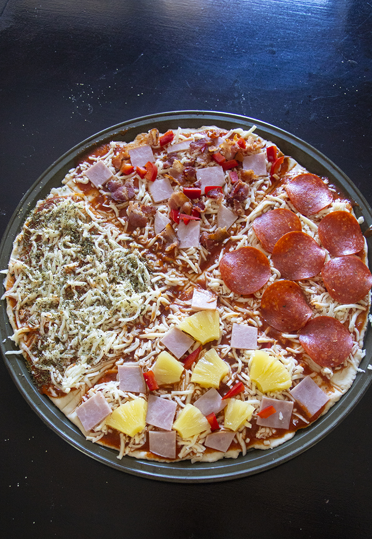 Homemade Pizza Using two ingredient dough