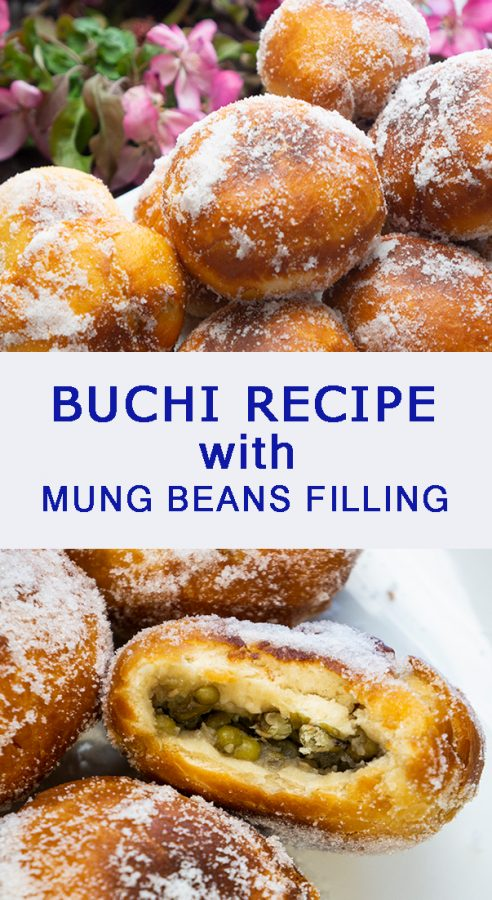 Sweet and Soft Buchi Recipe with Mung Beans Filling. Soft and sweet Filipino dessert sold in the side streets in the Philippines. Coated with white sugar, and filled with Mung Beans or Mungo, this is a Filipino version of doughnut balls. Perfect with green tea and coffee, your Filipino snack is all covered.