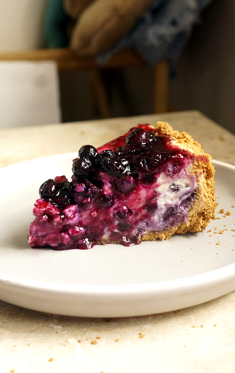 Blueberry Cheesecake makes for a festive dessert that is fruity and rich at the same time. Enjoy it anytime at home with this easy recipe!