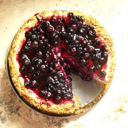 Blueberry Cheesecake with Sauce