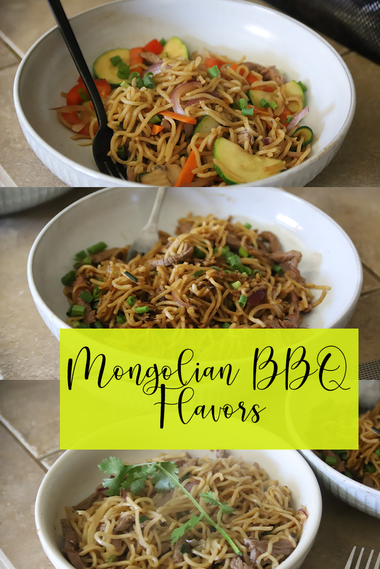 This Mongolian BBQ is replica from the Mongolian BBQ near me. It's a simple 1 bowl dump meal which is customized to your liking. Fill it with veggies and meat of your choice.