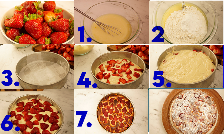 Step by step process in making Strawberry Cake