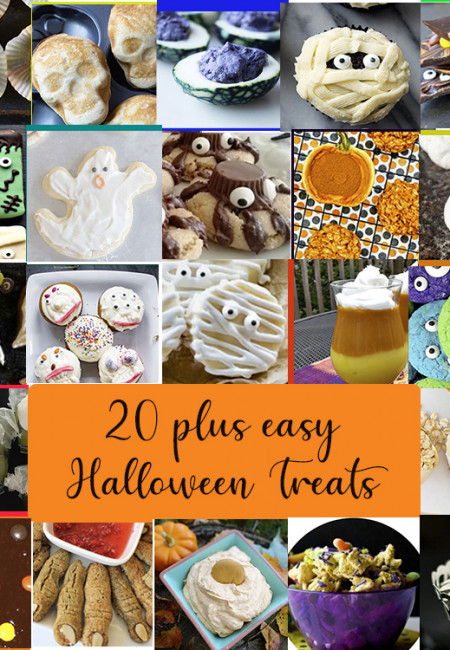 20 Plus HALLOWEEN TREATS YOU CAN MAKE this Halloween. They are cute. They are spooky and the recipe instructions are easy.