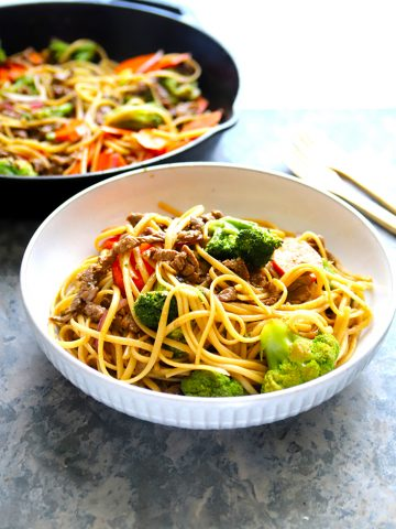 BEEF AND NOODLE BOWL