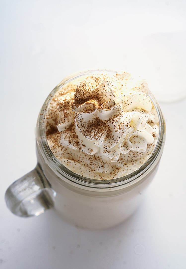 This 10 Minute Pumpkin Spice Latte is your DO IT YOURSELF alternative for the ever delicious Starbucks version with less sugar and healthier ingredients.