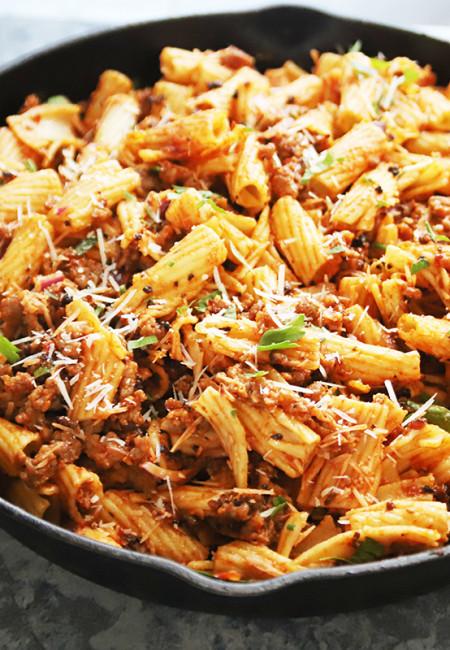 No-Bake Rigatoni Pasta with Italian Sausage