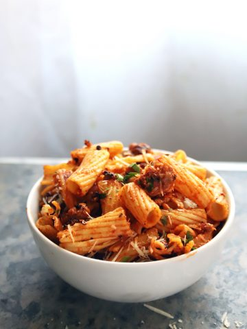 No-Bake Rigatoni Pasta with Italian Sausage
