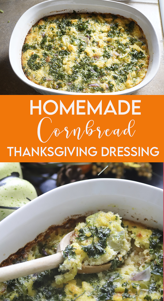 Homemade Cornbread Thanksgiving Dressing