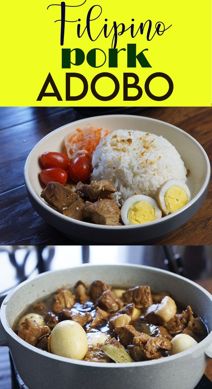 How do you like your Pork Adobo? Saucy or dry? Adobo is one of the famous Filipino cuisine worldwide. You can use pork, chicken, beef and even fish. Click on the link for the recipe. Thank you.
