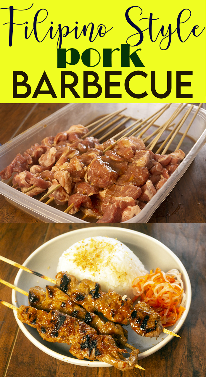 FILIPINO STYLE PORK BARBECUE WITH SAUCE