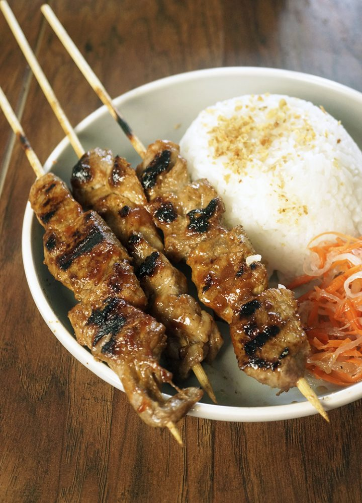 Filipino Style Pork Barbecue is marinated with homemade Filipino Barbecue Sauce which was made with ketchup, sprite, sugar, soy sauce and spices. It's marinated overnight, to achieve that Filipino flavor inside the meat.