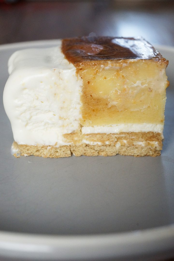This Graham De Leche is a combination of my 2 Filipino Desserts- Graham Float and Leche Flan. It is a creamy and a sweet combination of both desserts to wow the crowd and entice you to come back for second or third slices.