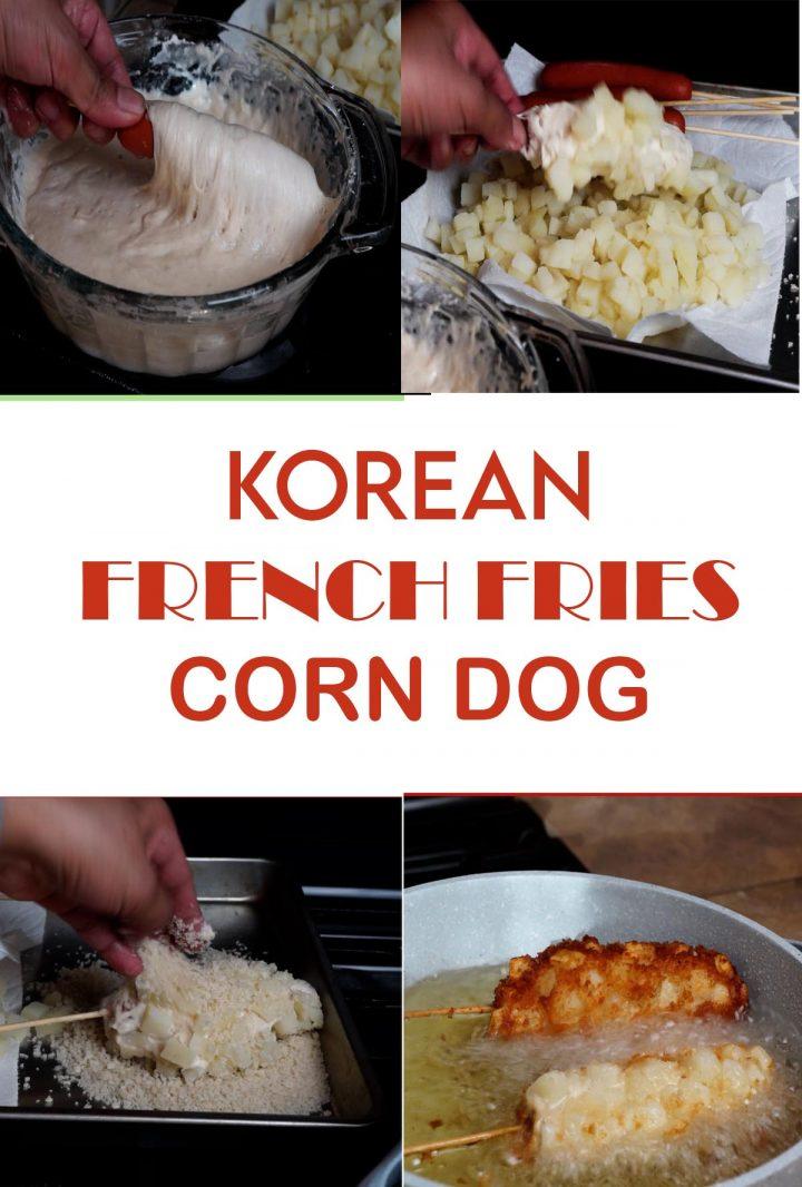 How to Make Korean French Fries Corn Dog