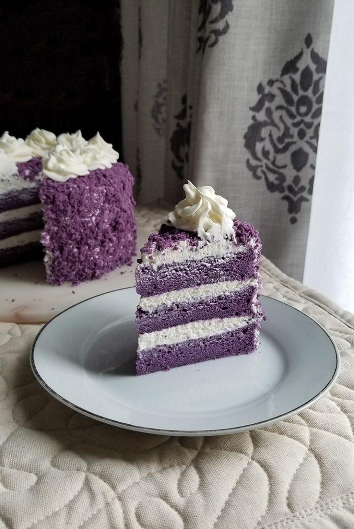 Soft and Moist Cake without Ube Halaya